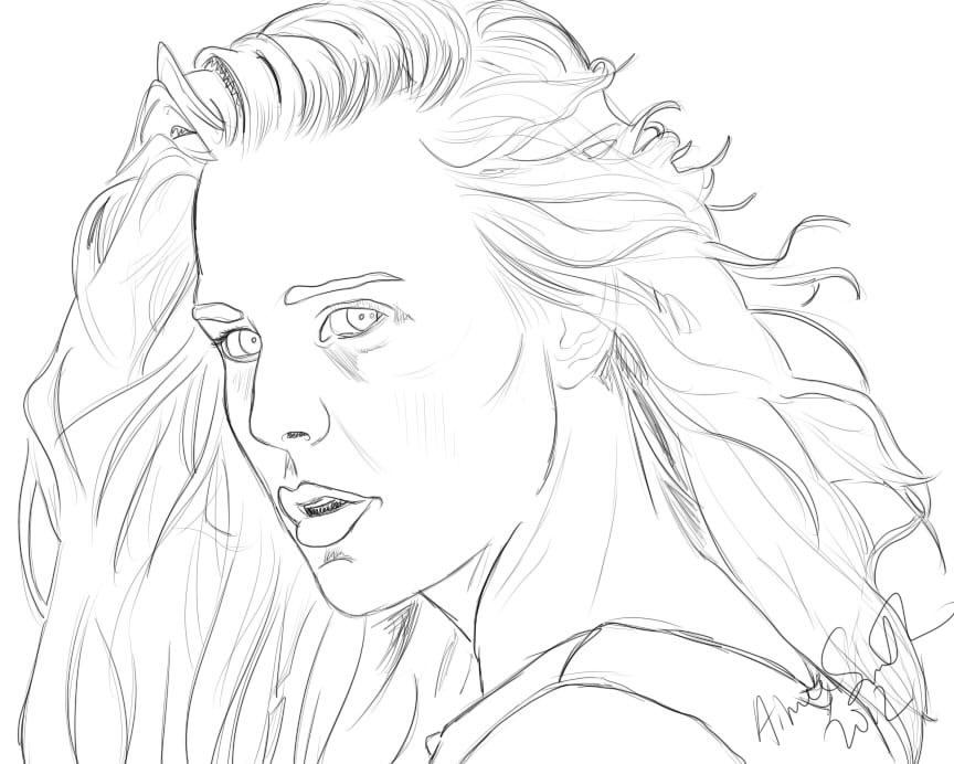 864x692 Buttercup Commission Sketch By Luscyart