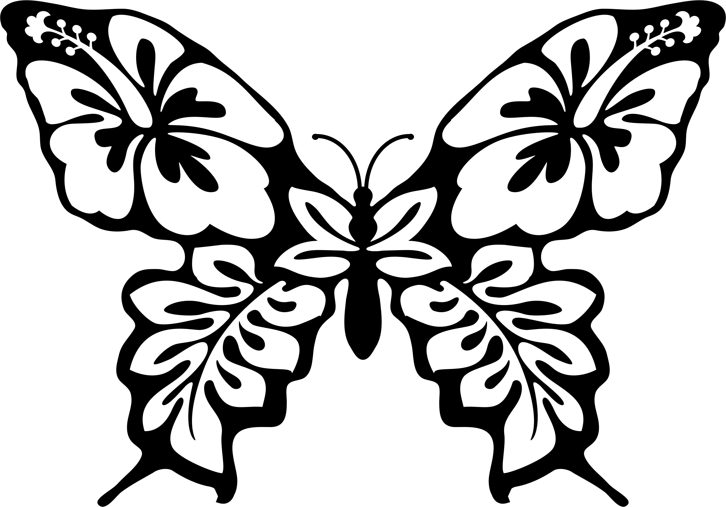 Butterflies And Flowers Drawing at GetDrawings | Free download