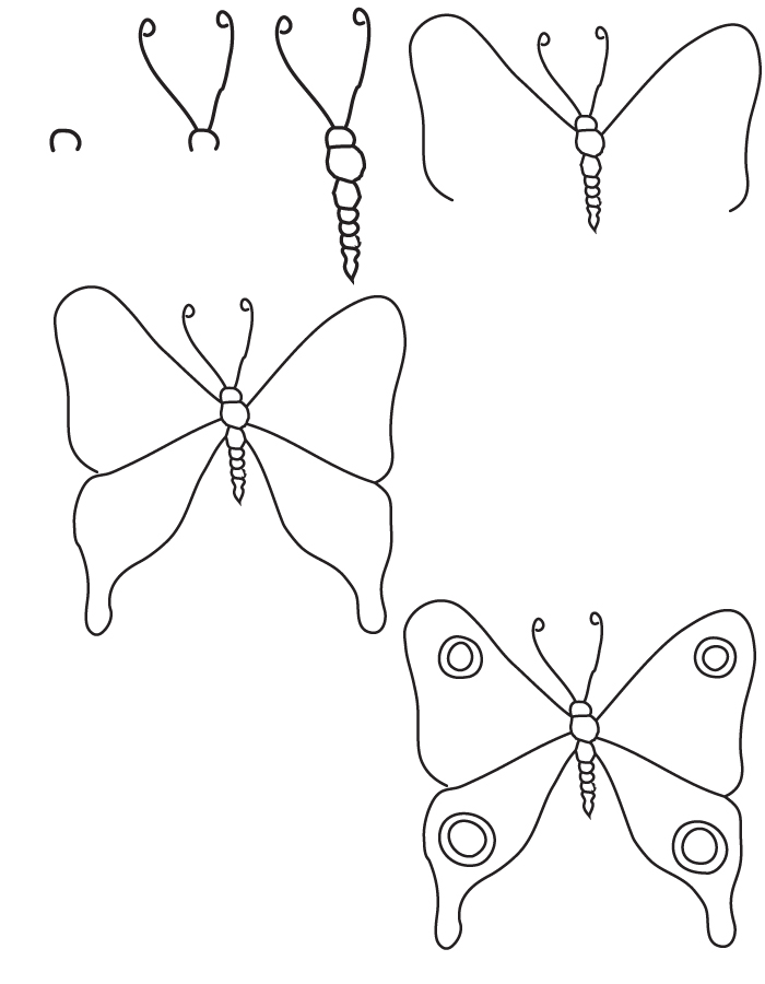 700x900 Drawing Butterfly