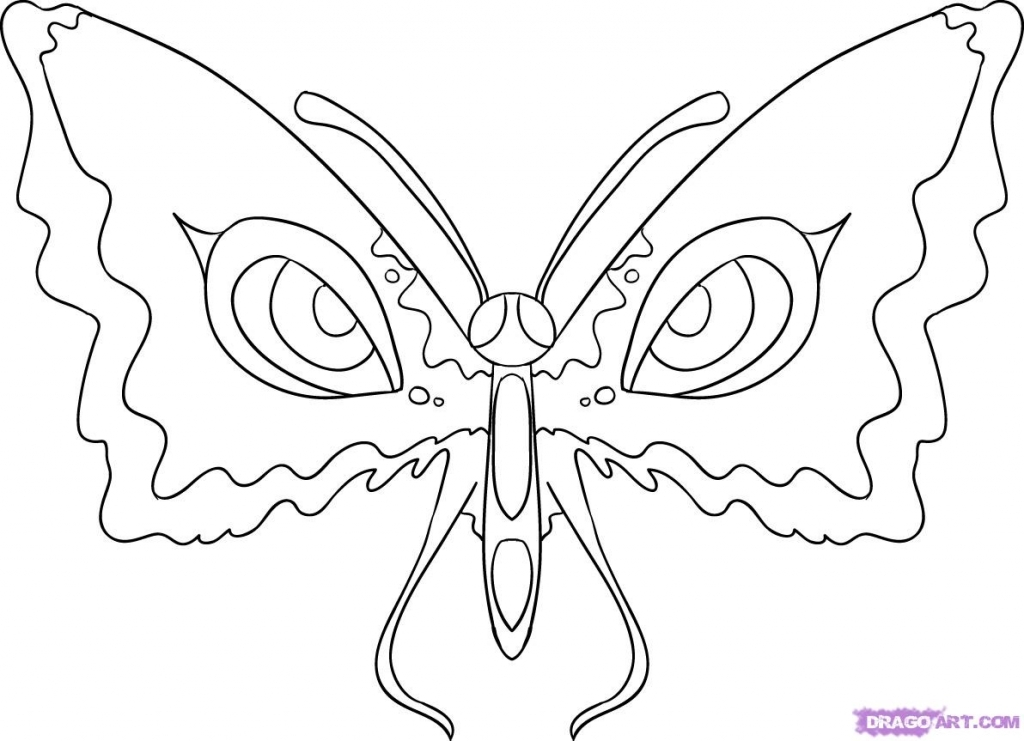 1024x741 How To Draw Butterflies How To Draw Butterfly Eyes Step Step