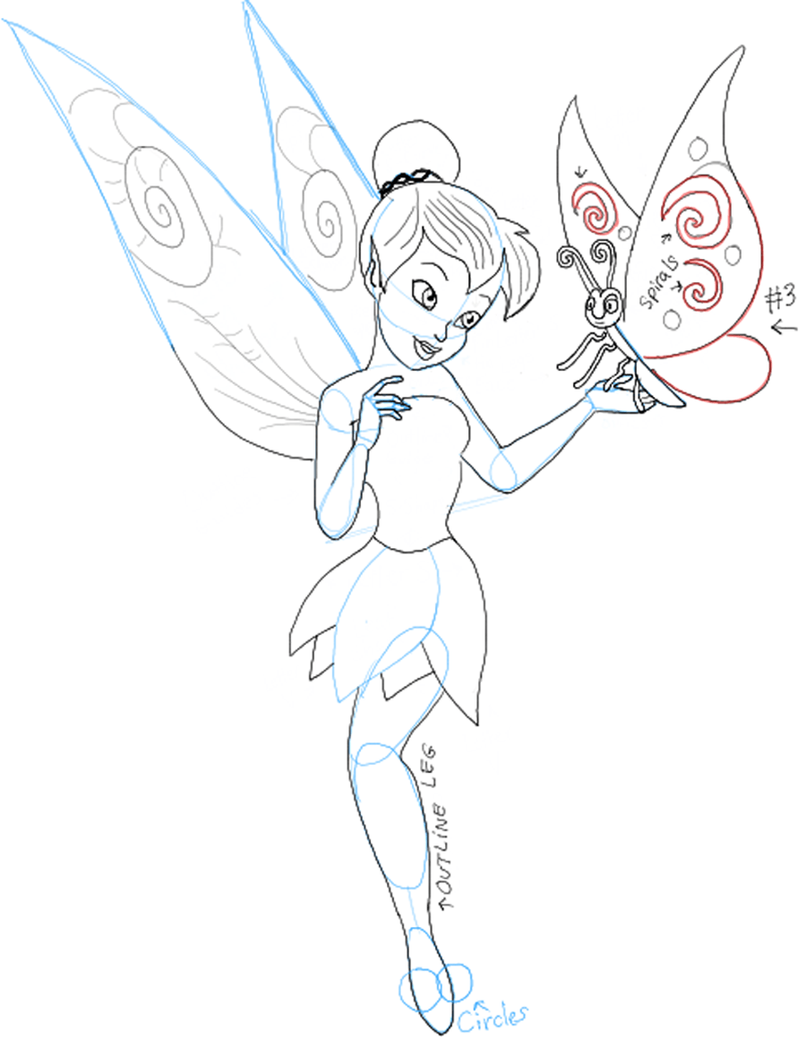 900x1169 How To Draw Tinkerbell Holding A Butterfly With Easy To Follow