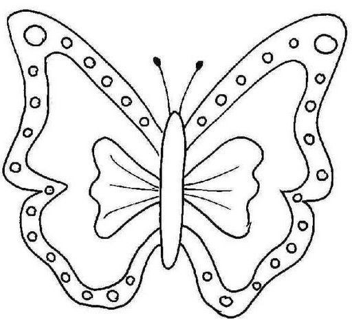 512x468 Molds For Printing Large Butterflies