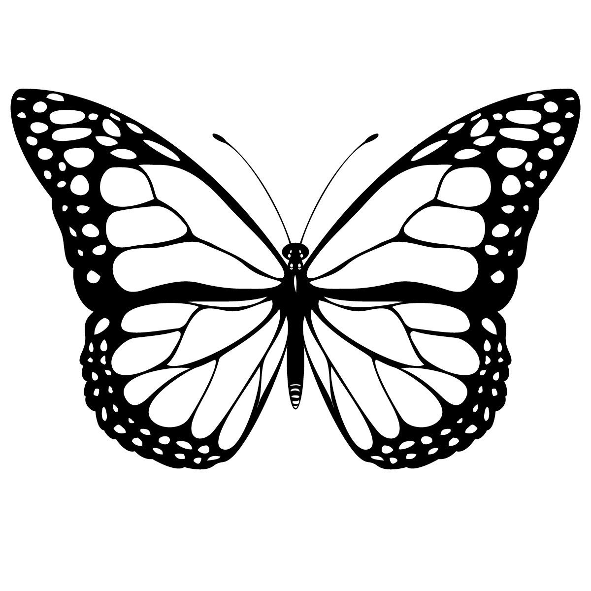 1200x1200 Butterfly Coloring Sheets Printables Free Printable Butterfly