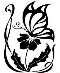205x246 Tribal Drawings Of Roses Tribal Butterfly And Flower Drawing