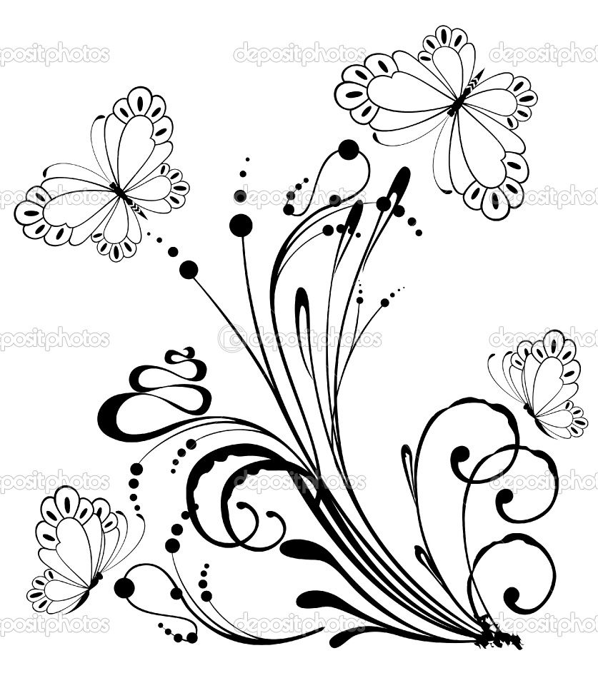 837x950 Flower Drawings Beautiful Grunge Background With Tropical