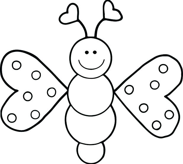 618x556 Excellent Free Butterfly Coloring Pages Kids For Toddlers Cartoon