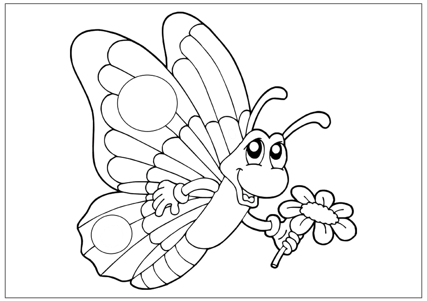 842x595 Printable Fun Butterfly Coloring Pages For Kids