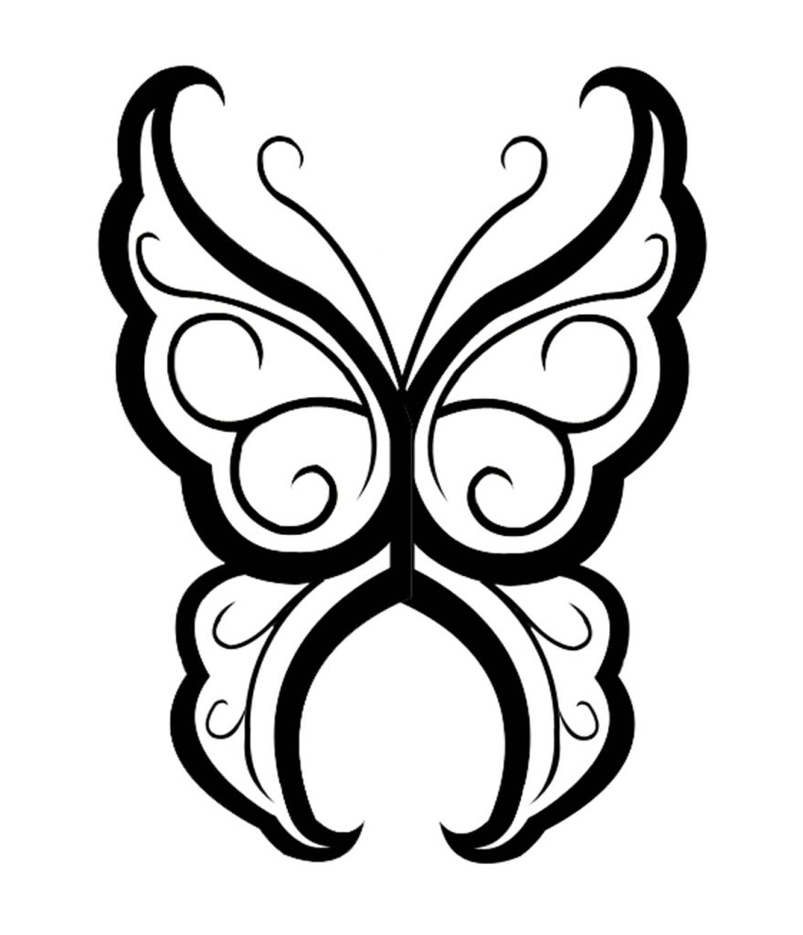 879x1024 Gorgeous Design Of Butterfly Tattoo For Women