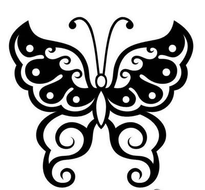 400x372 Lipby Blogs Black Butterfly Tattoo Design