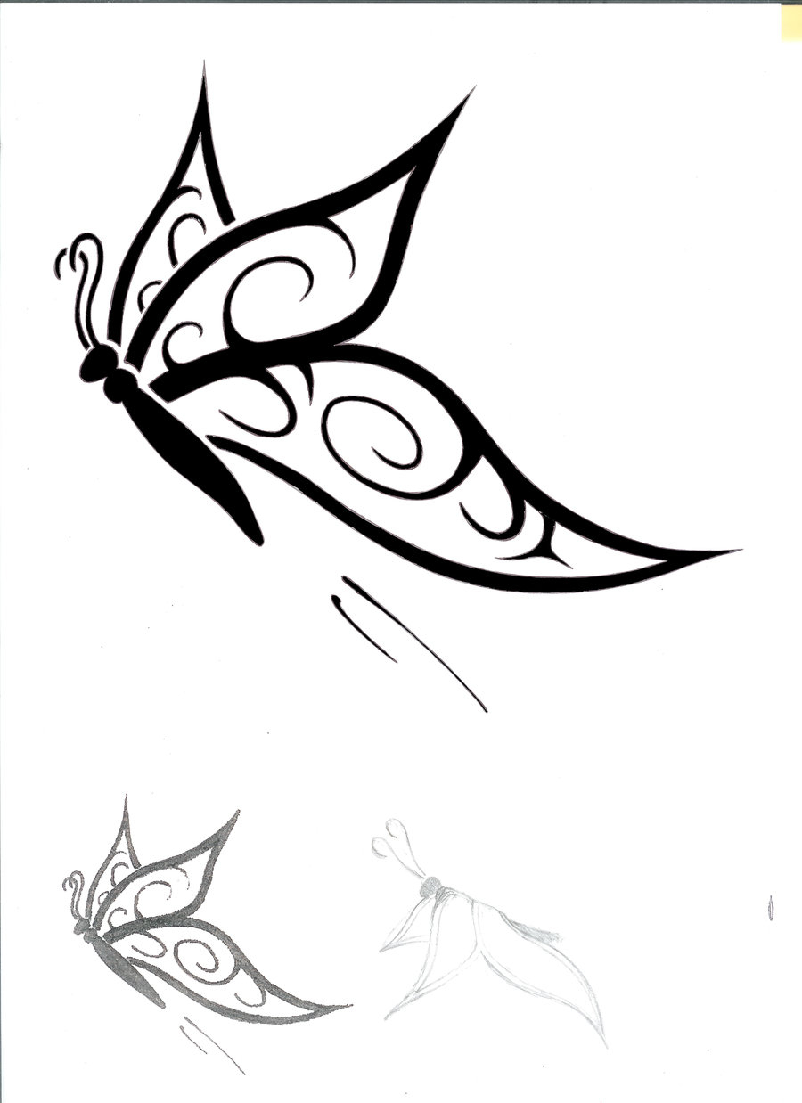 900x1238 Simple Sketch Tattoo About Butterfly How To Draw Tattoo Butterfly