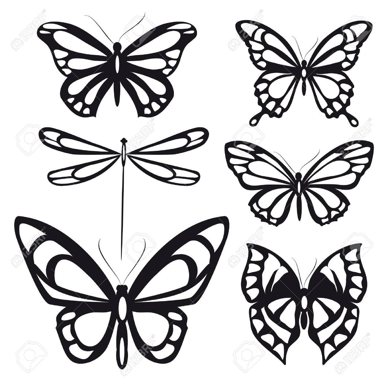 1300x1300 Butterflies Design Royalty Free Cliparts, Vectors, And Stock