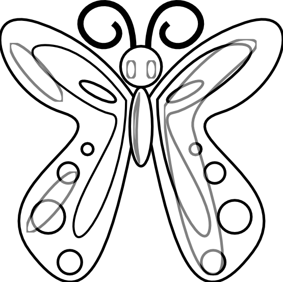 555x553 Black White Butterfly Clipart Butterfly Black And White Butterfly