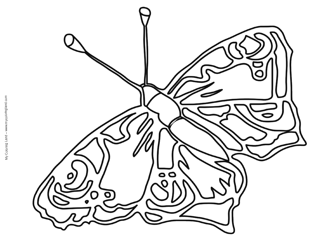 1056x816 Butterfly Coloring Pages For Kids