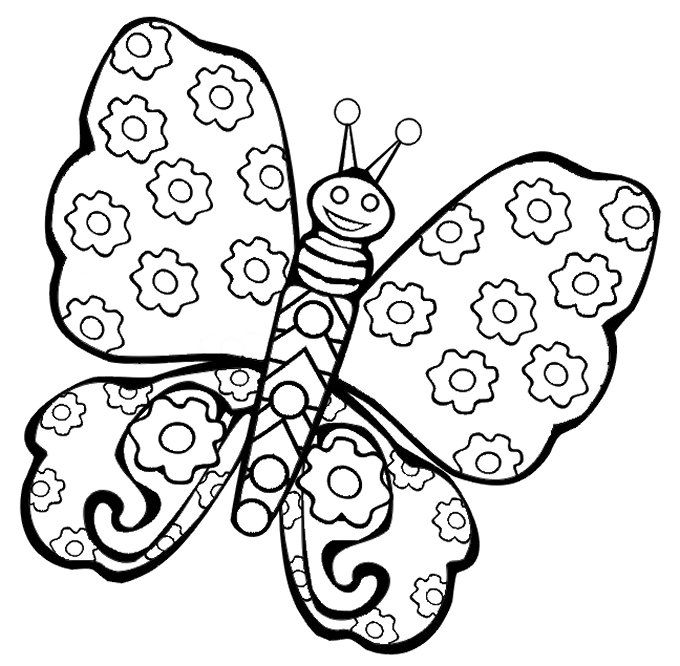 680x666 13 best kids colouring happy auntie images on pinterest kids - Printable Butterfly Coloring Pages 2