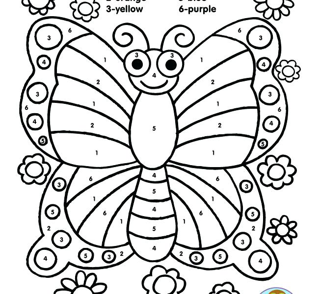 650x600 Butterfly Coloring Pages Cute Dog For Kids
