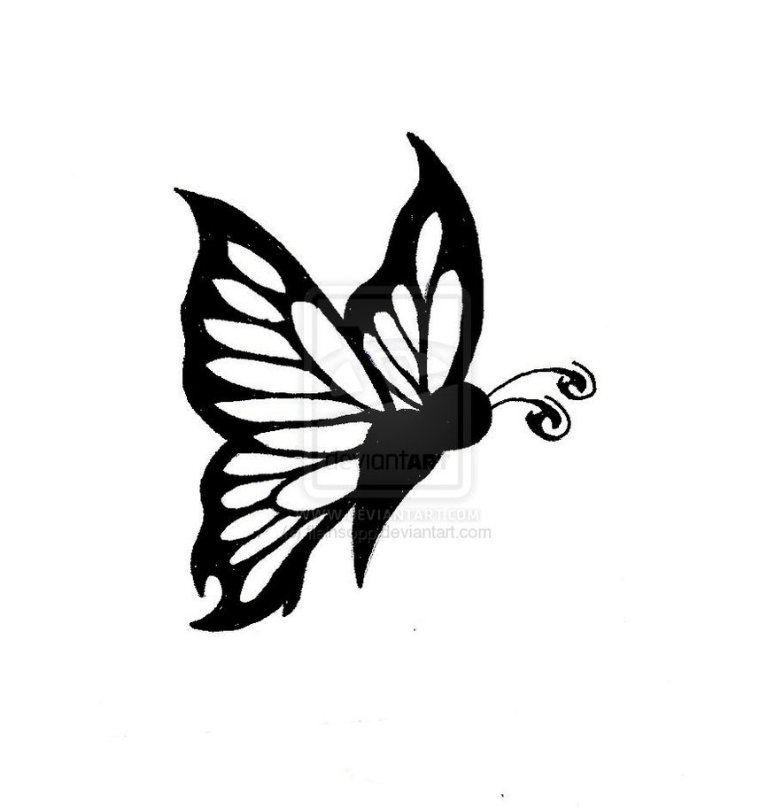 875x914 Butterfly Drawings Black And White Butterfly Tattoo 2 By