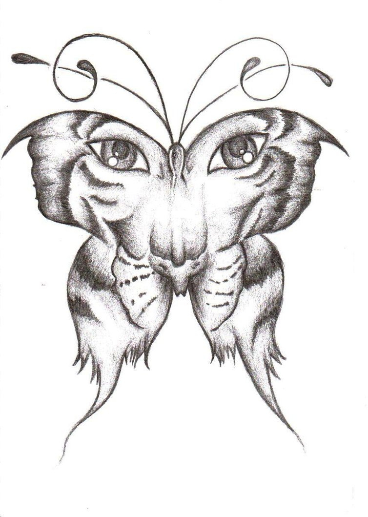754x1059 Butterfly Ideas Drawing Have A Tattoo Like This Already