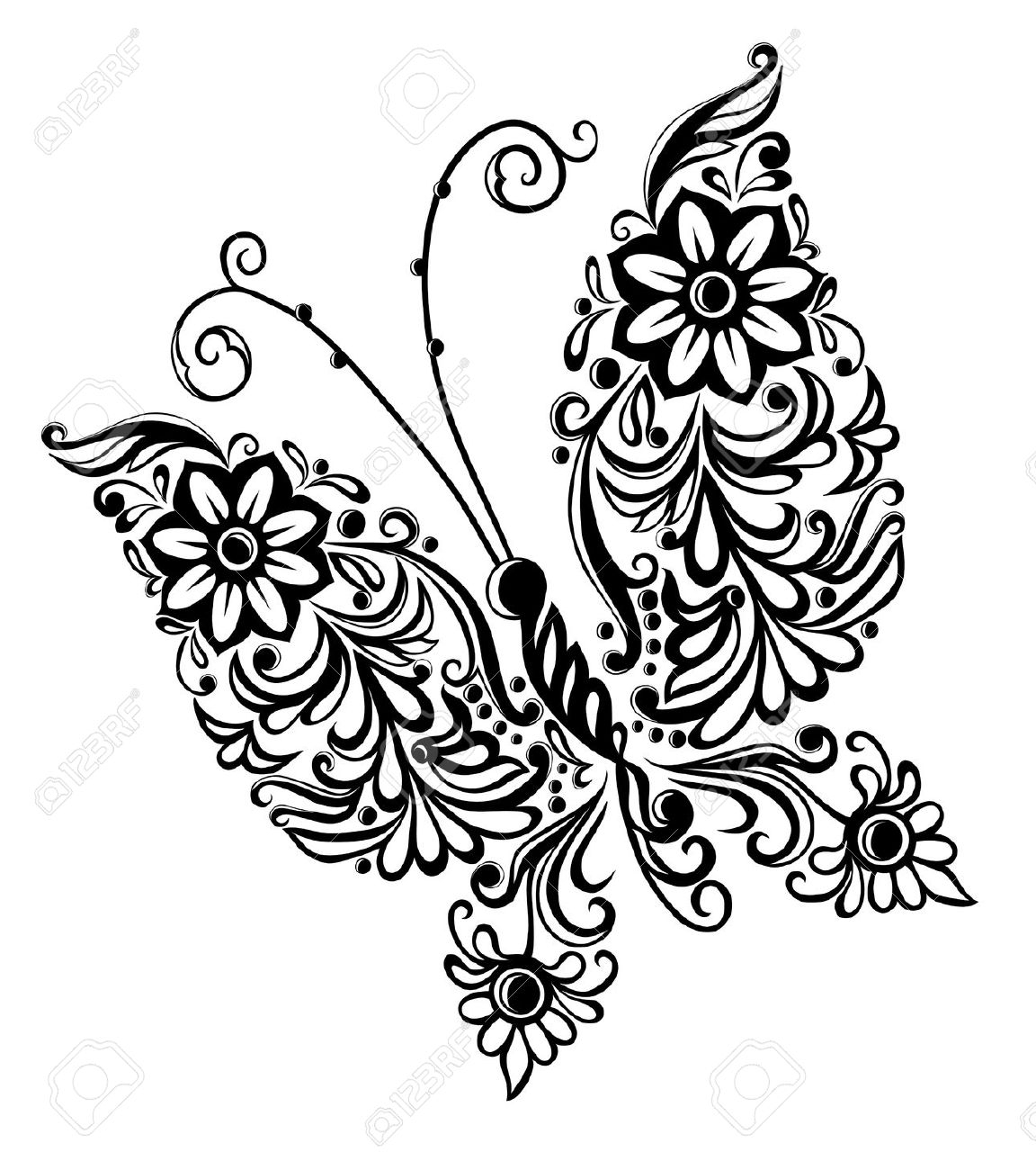 1152x1300 Black And White Butterfly Drawing Black And White Butterfly