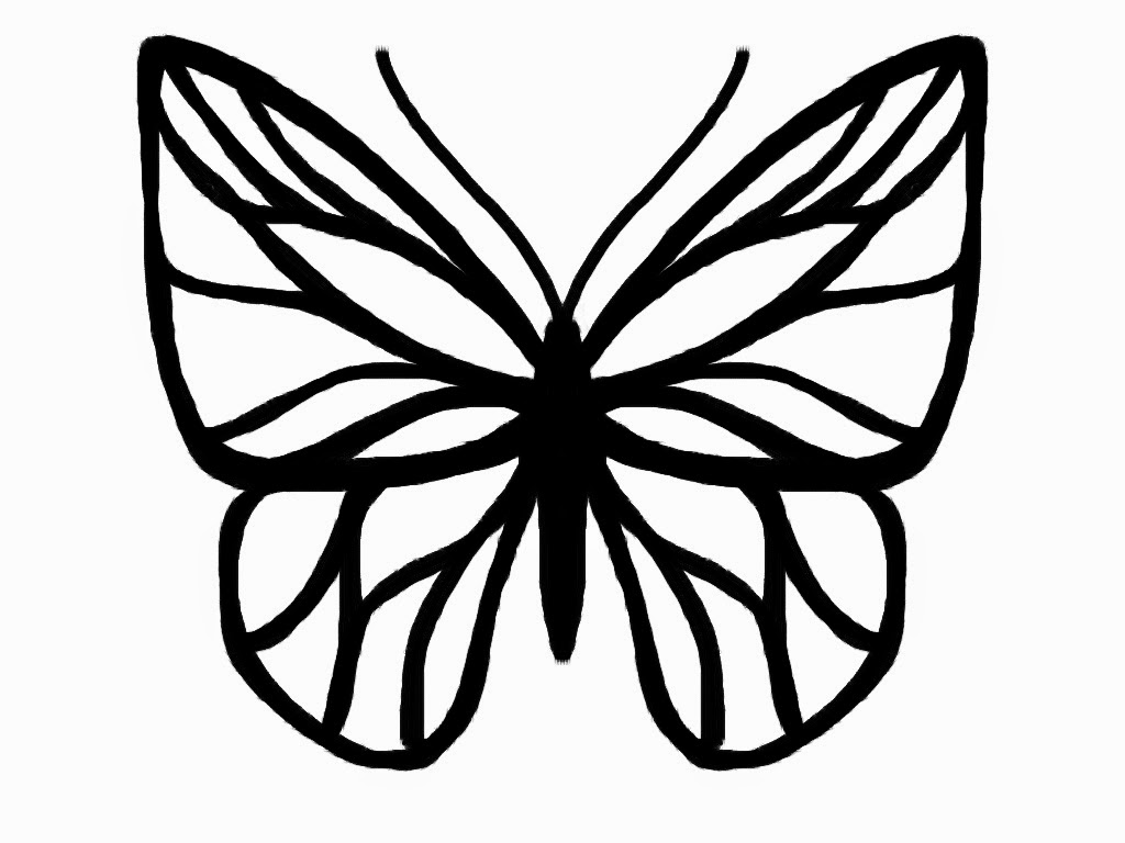 1024x768 Butterfly Outline Butterfly Drawing Template Butterfly Drawing