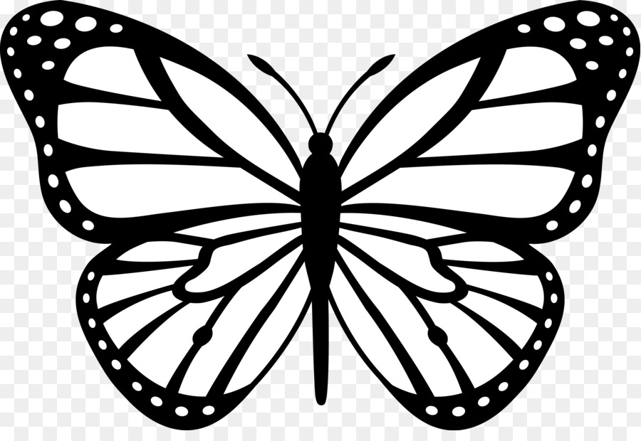 900x620 monarch butterfly insect outline clip art