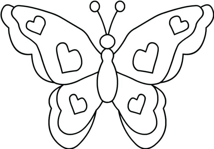 700x487 Coloring Page Of Butterfly Simple Butterfly Coloring Pages Free