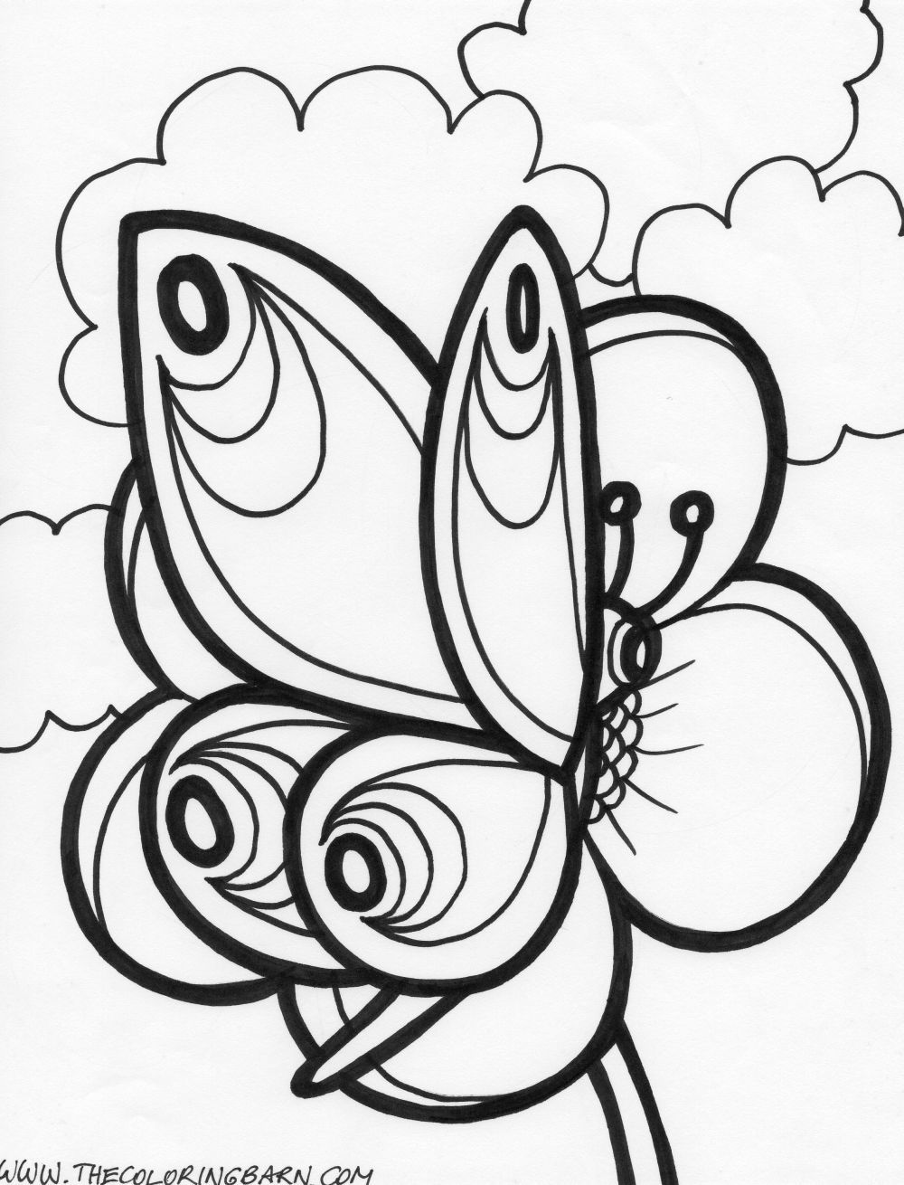 1000x1310 Printable Butterfly Coloring Pages Paitynns Birthday
