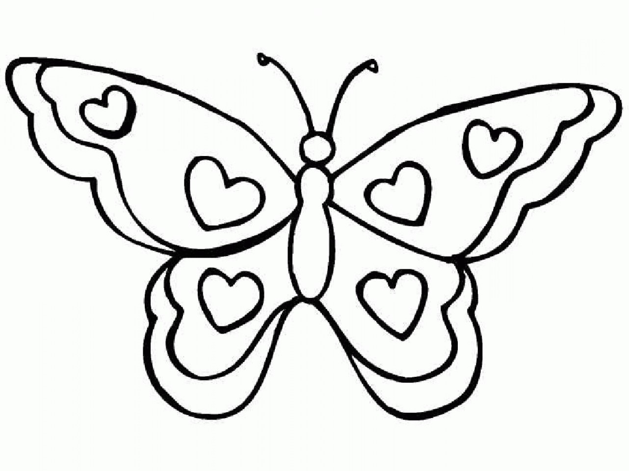 Butterfly Easy Drawing at GetDrawings.com | Free for personal use ...