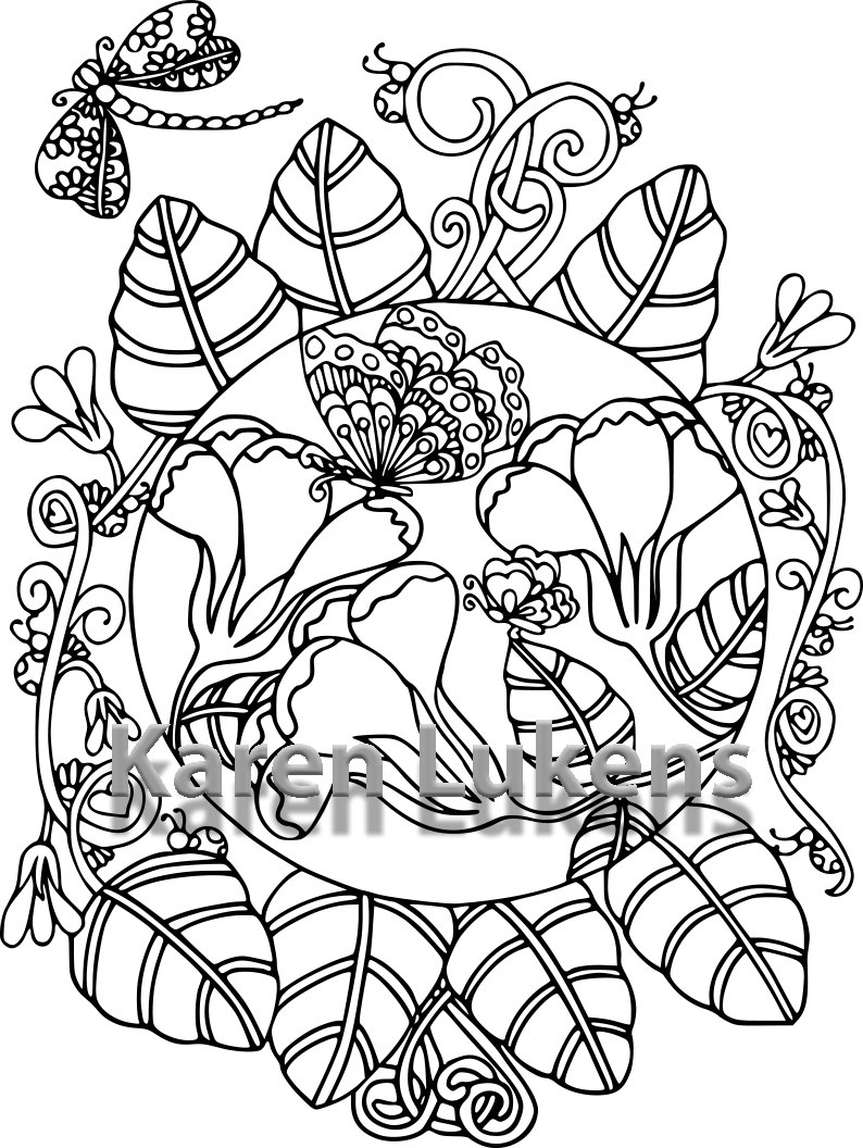 Butterfly In Garden Drawing At GetDrawings
