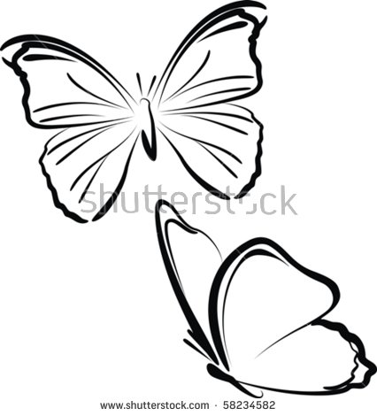 426x470 butterfly drawings black and white collection 34