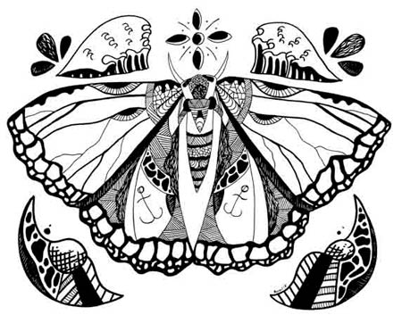 450x353 Butterfly Drawing Beautiful Butterfly Drawings You Need To See