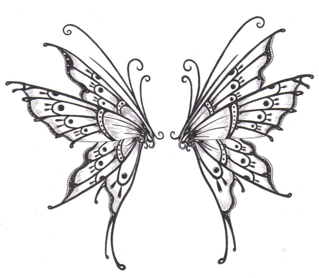 1024x891 Butterfly Wings Drawing