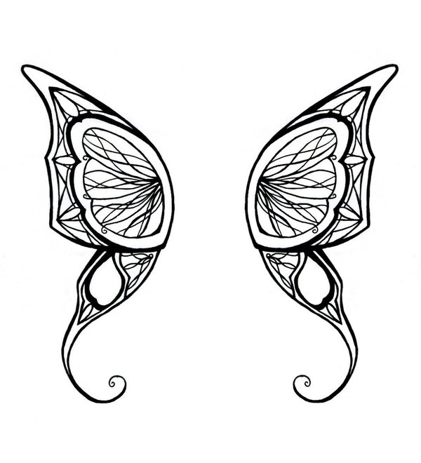 600x660 Butterfly Wings Tattoo By Darlingbeatrice