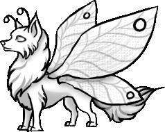 238x190 Wolf Puppy With Butterfly Wings Pose By Annatiger1234