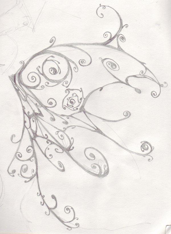 600x817 Butterfly Wing By Slavicwolf