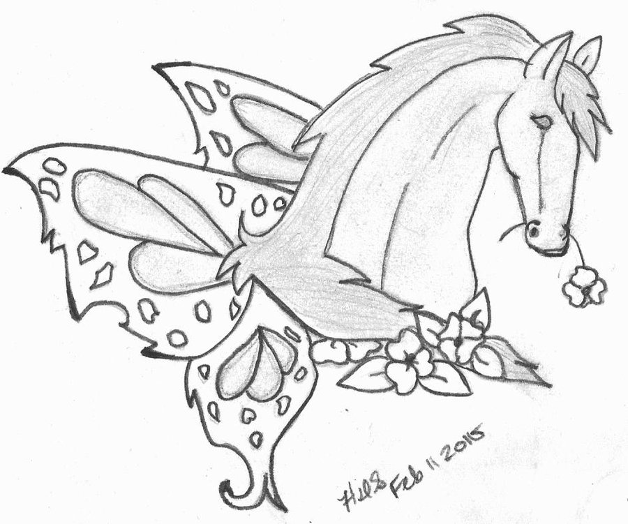 900x751 Horse With Butterfly Wings Tat By Crochetamommy
