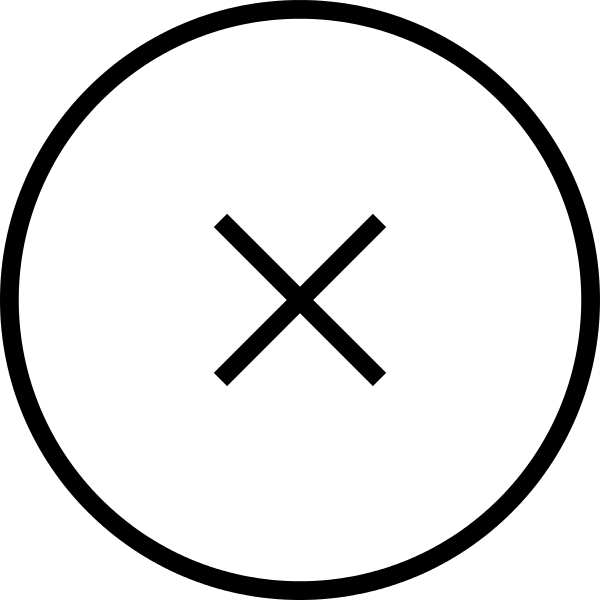 600x600 Fileclose Cross Thin Circular Button.svg