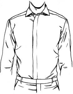 234x300 Men's Black Button Up Shirts
