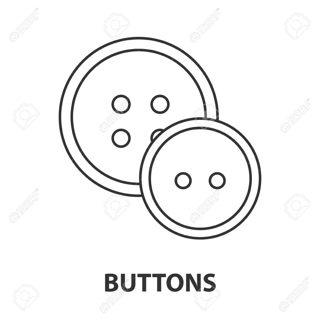 1300x1300 Buttons Icon Or Logo Line Art Style. Vector Illustration. Royalty