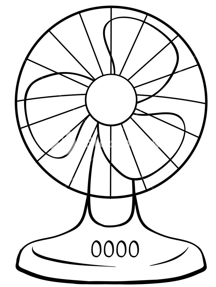 754x1000 Close Up Electric Fan With Buttons Royalty Free Stock Image