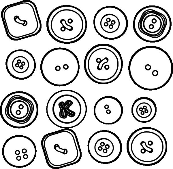 600x588 Sixteen Buttons Clip Art
