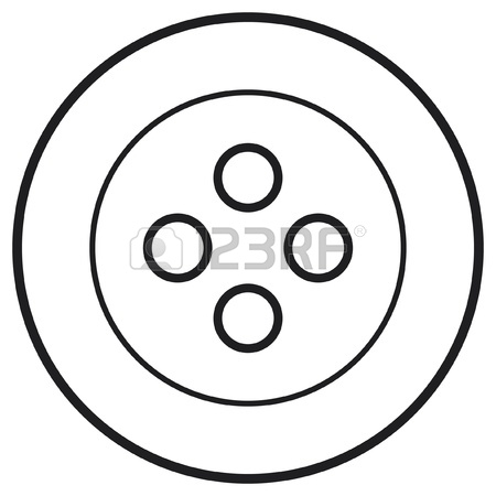 450x450 White Sewing Button Royalty Free Cliparts, Vectors, And Stock
