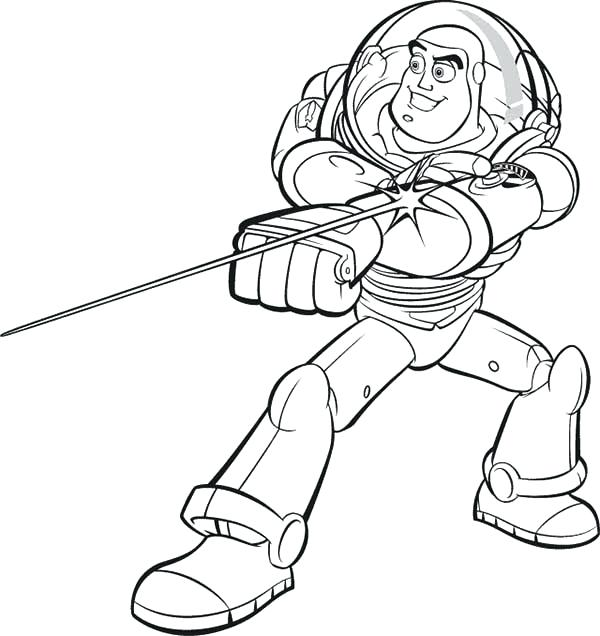 600x636 Buzz Lightyear Coloring Pages Buzz And His Awesome Laser In Toy