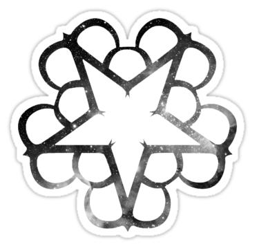375x360 Black Veil Brides Logo Stickers By Eliza Gwynne Redbubble