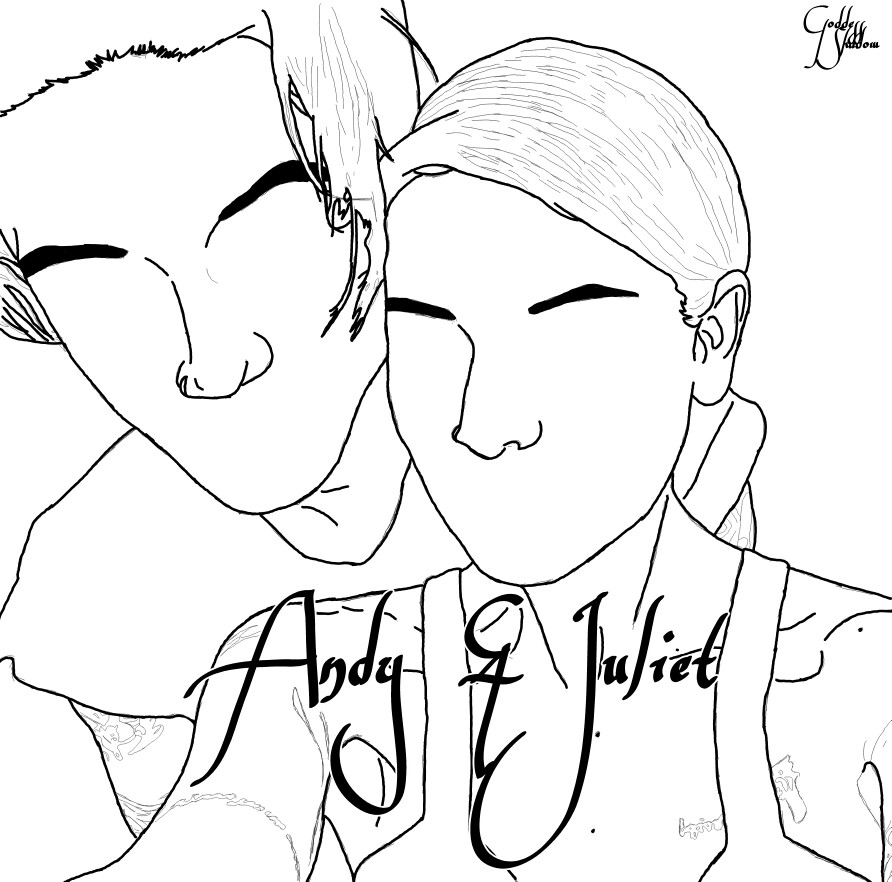 892x882 Fanart (Drawing) Of Juliet Simms And Andy Biersack Tattos