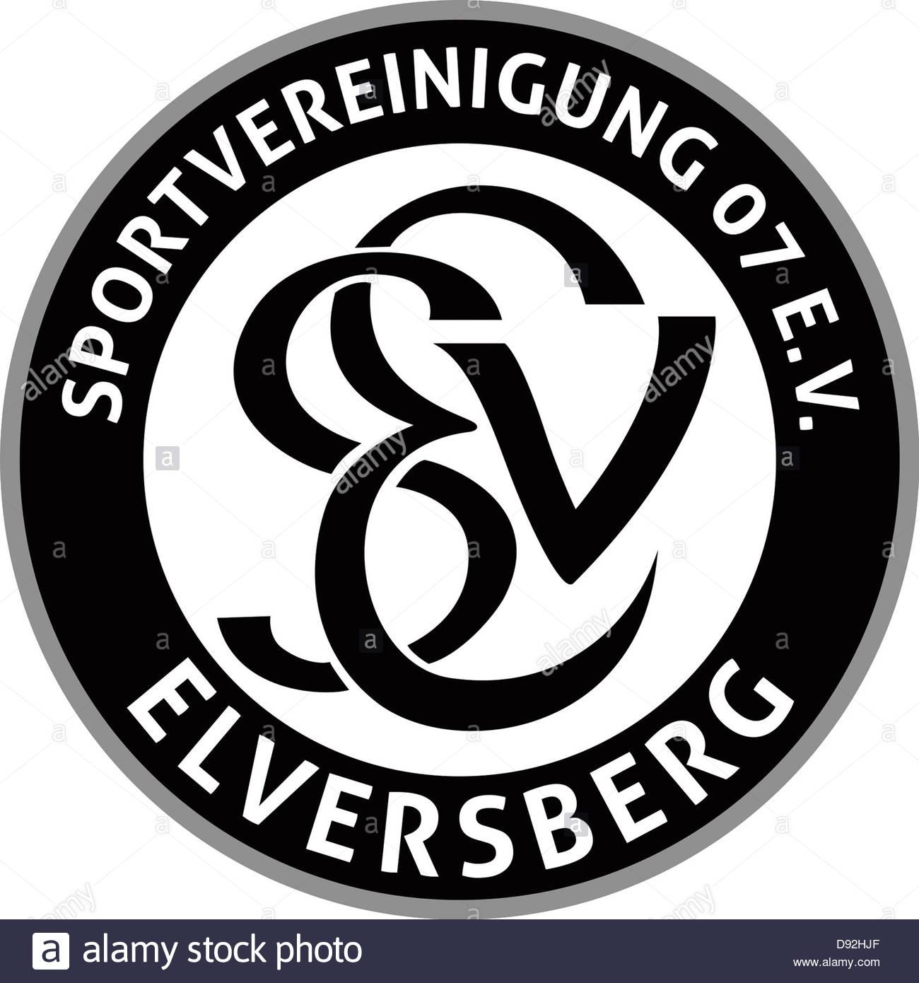 1300x1390 Logo Of German Football Team Sv 07 Elversberg Stock Photo, Royalty