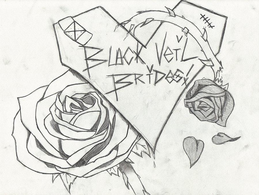 900x679 Black Veil Brides Drawings Black Veil Brides Design By
