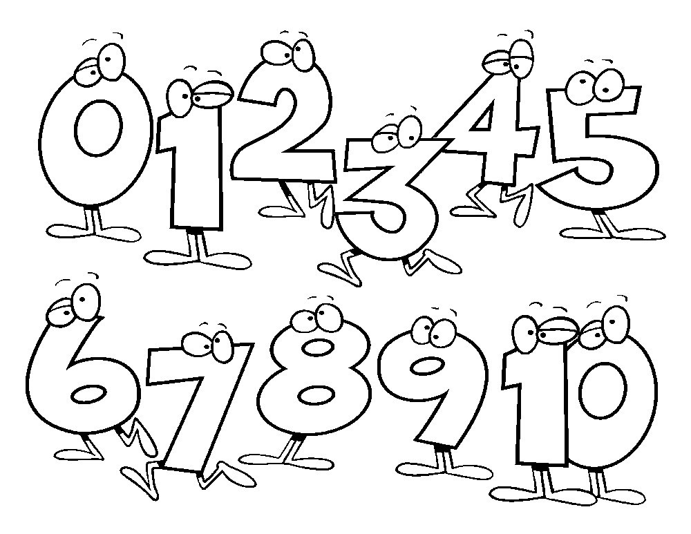 1000x773 Coloring Pages Number Coloring Pages For Kids Number Coloring