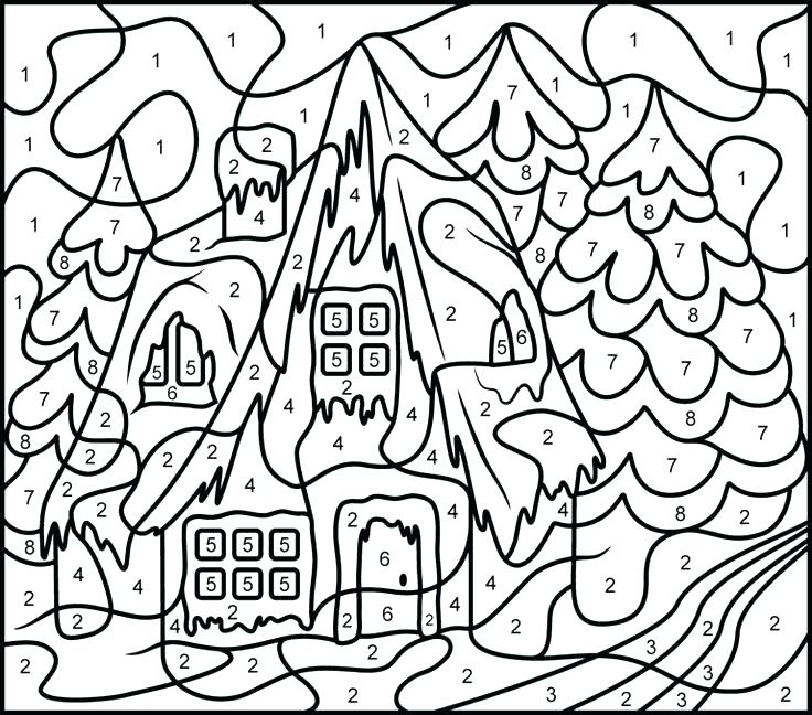 736x648 Numbers Coloring Pages By Number