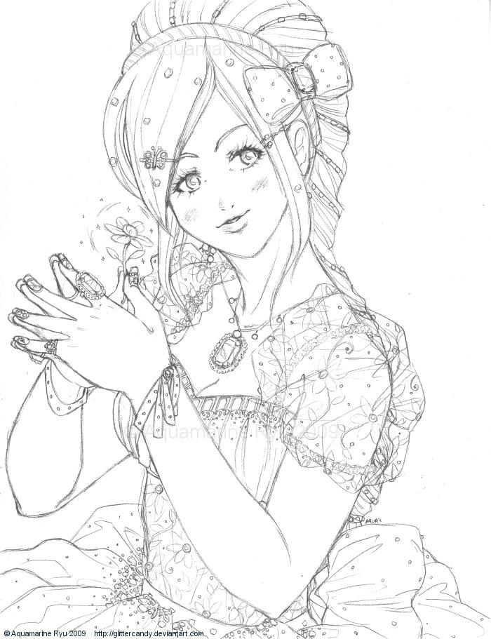 700x911 Jewel Princess Pencil By Glittercandy