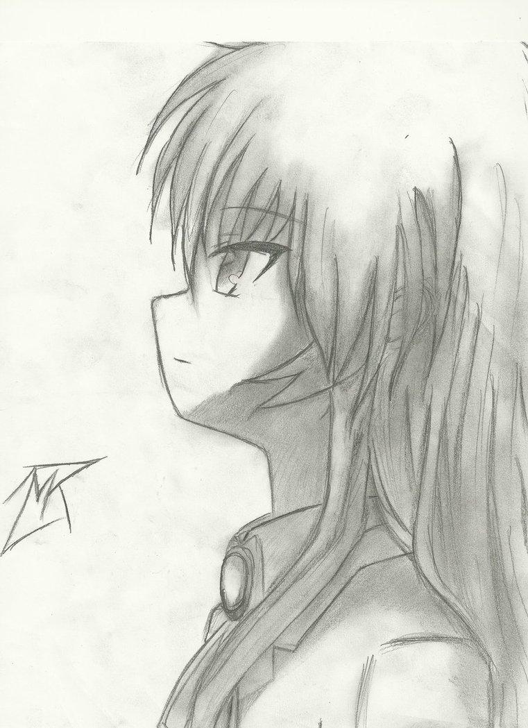 761x1049 Kanadeangel (Angel Beats) Pencil Drawing Updated By 717thartist